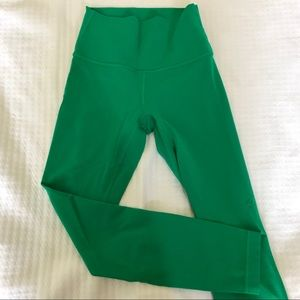 Green Lululemon Wunder Under High Rise Tights
